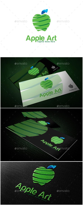 Apple Art Logo  - Food Logo Templates