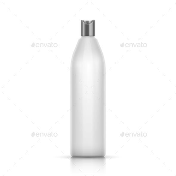 White Plastic Container - Health/Medicine Conceptual