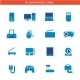 Blue Computers Device Icons - GraphicRiver Item for Sale
