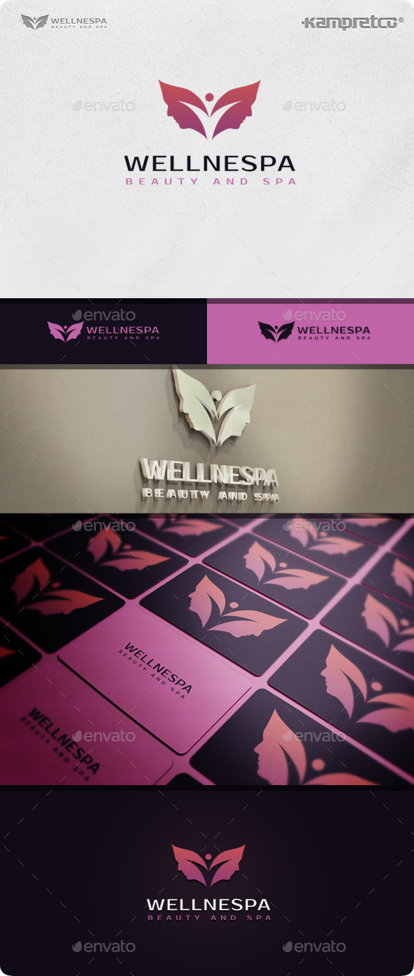 Woman Spa Logo - Nature Logo Templates