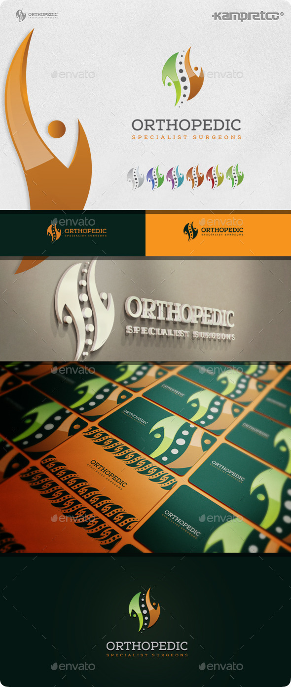 Orthopedic Surgeon Logo - 3d Abstract