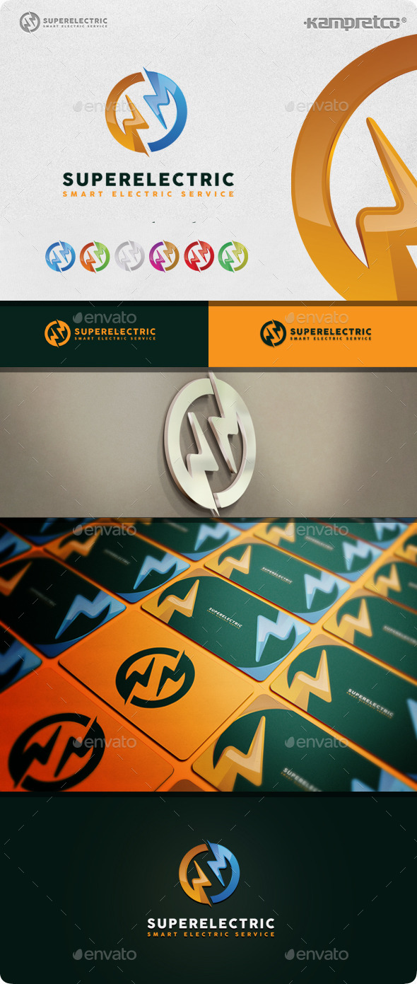 Super Electric Logo - 3d Abstract