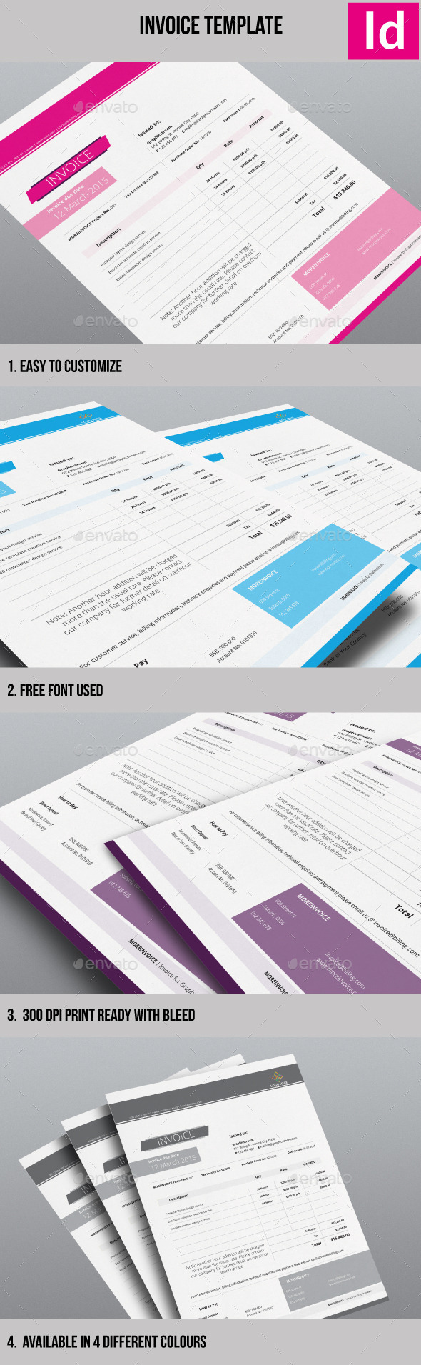 Minimalist Invoice Template - Proposals & Invoices Stationery