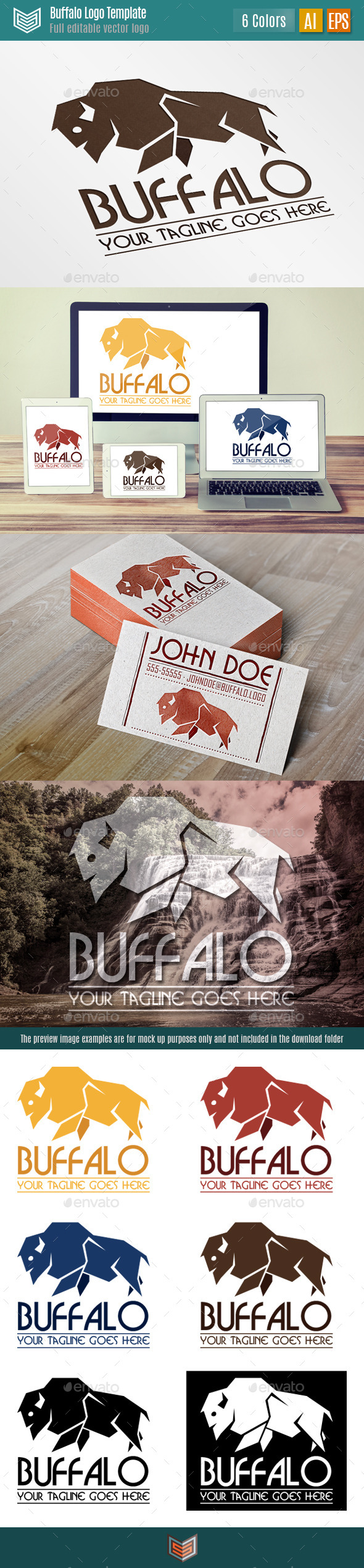 Buffalo Logo - Animals Logo Templates