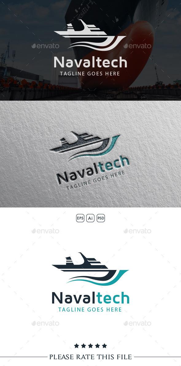 Naval Ship Logo - Vector Abstract