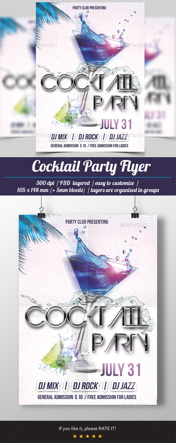 Cocktail Party Flyer - Events Flyers