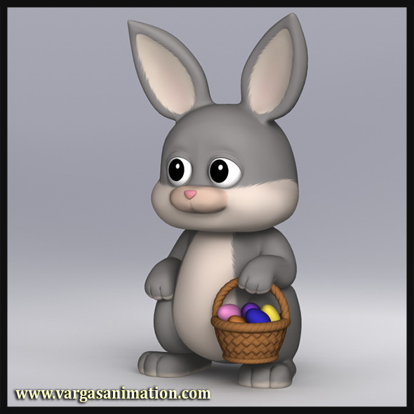 Cartoony Bunny - 3DOcean Item for Sale