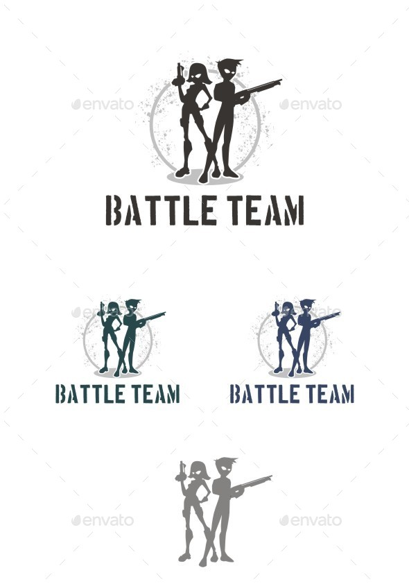 Battle Team - Humans Logo Templates