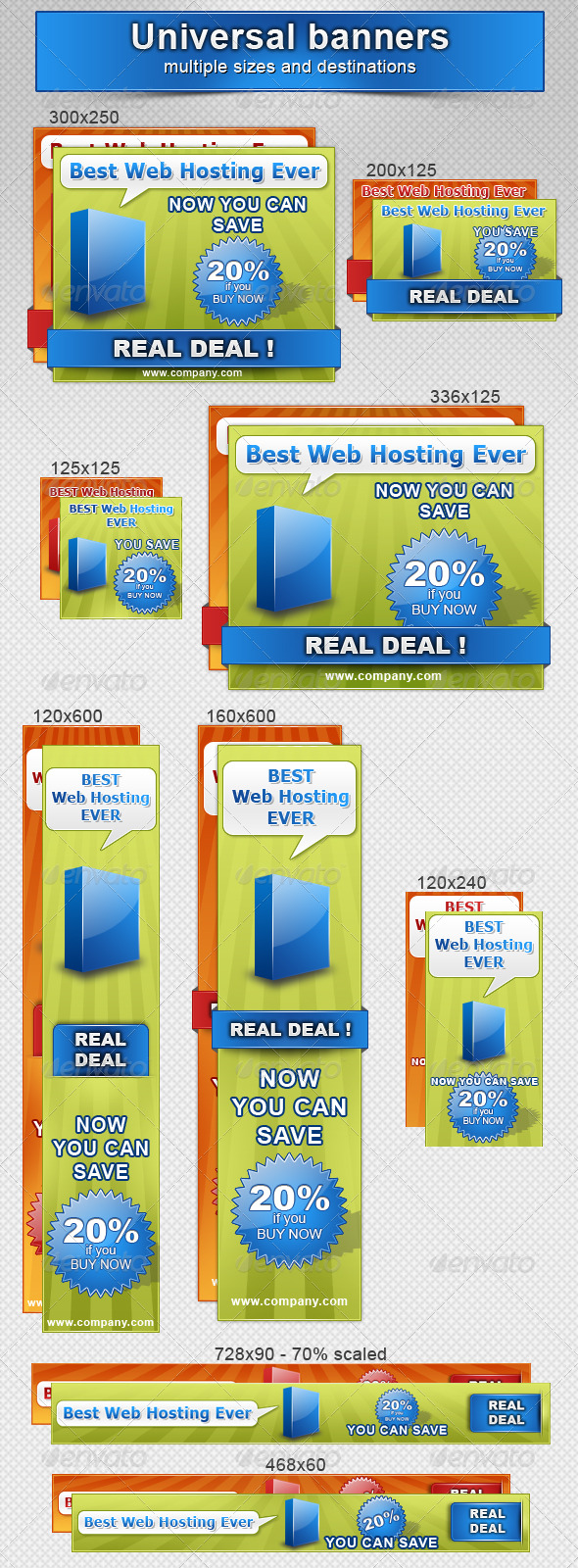 Marketing - Universal Banners - Web Elements