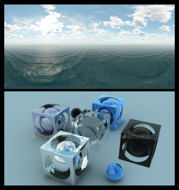 Ocean Blue Clouds - HDRI - 3DOcean Item for Sale