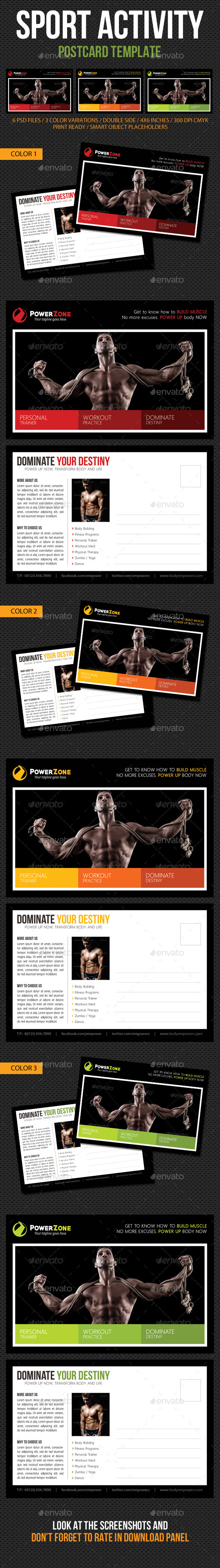 Sport Activity Postcard Template V09 - Cards & Invites Print Templates