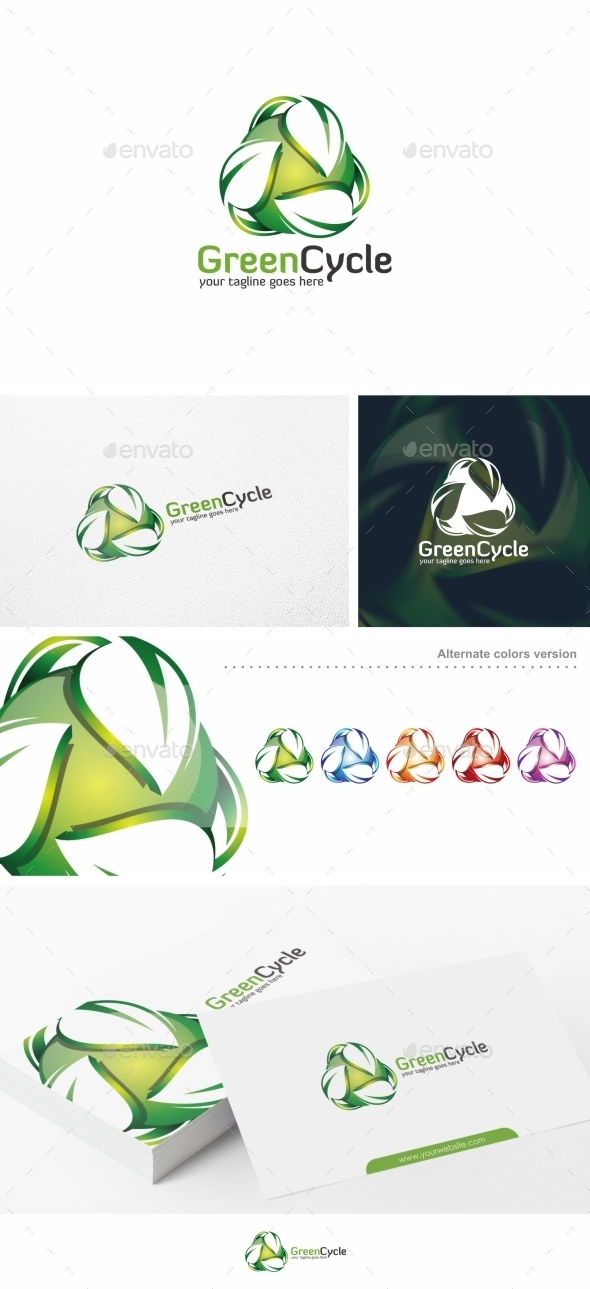 Green Cycle / Leaf - Logo Template - Nature Logo Templates