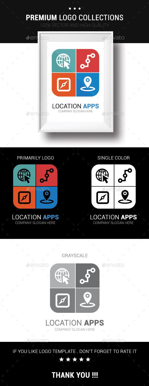 Location Apps - Symbols Logo Templates