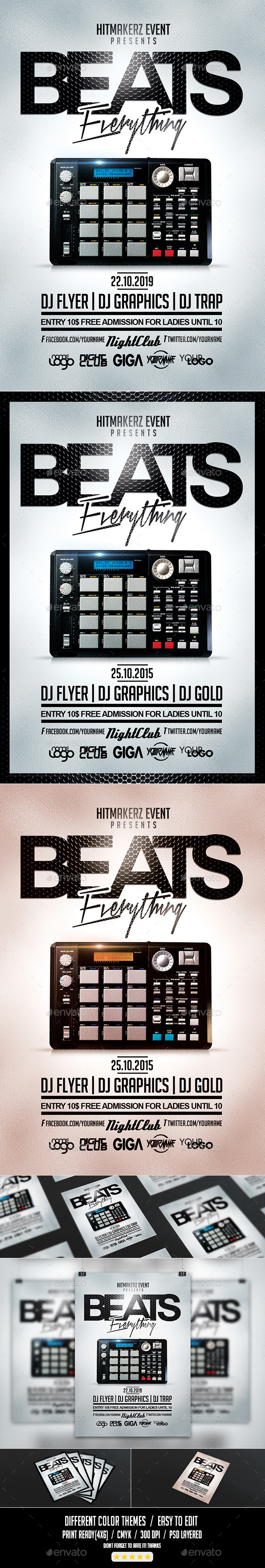 Beats Everything | Flyer PSD Template - Events Flyers