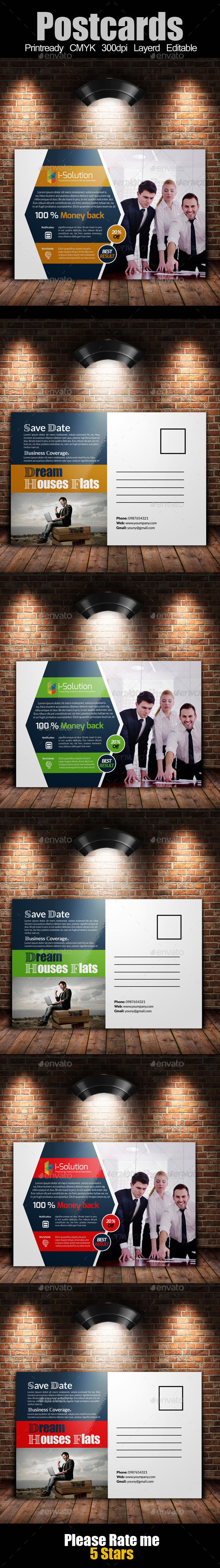 Multi Use Business Post Cards Template - Cards & Invites Print Templates