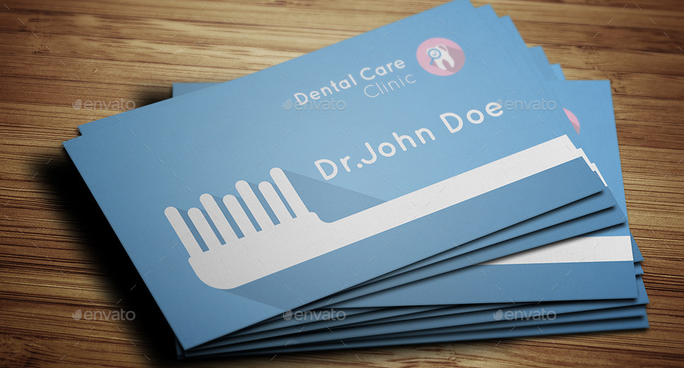 Dentist business card by mmounirf graphicriver dentist business card colourmoves