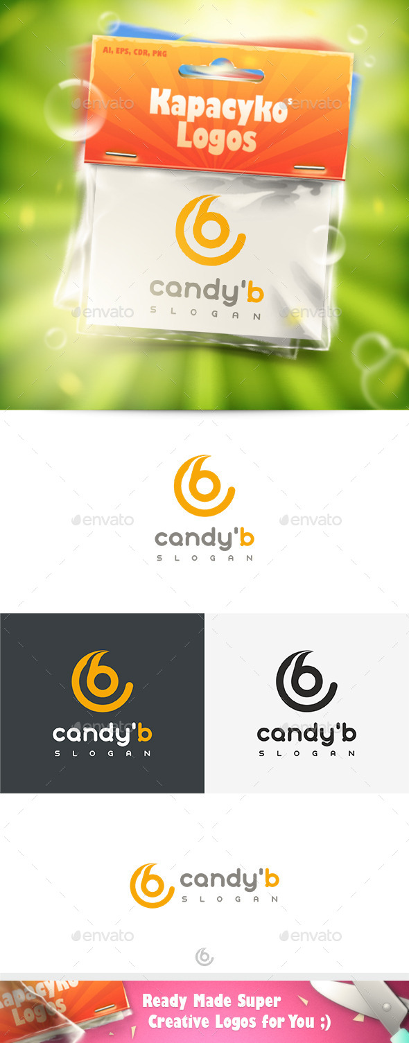 Candy B Logo - Letters Logo Templates