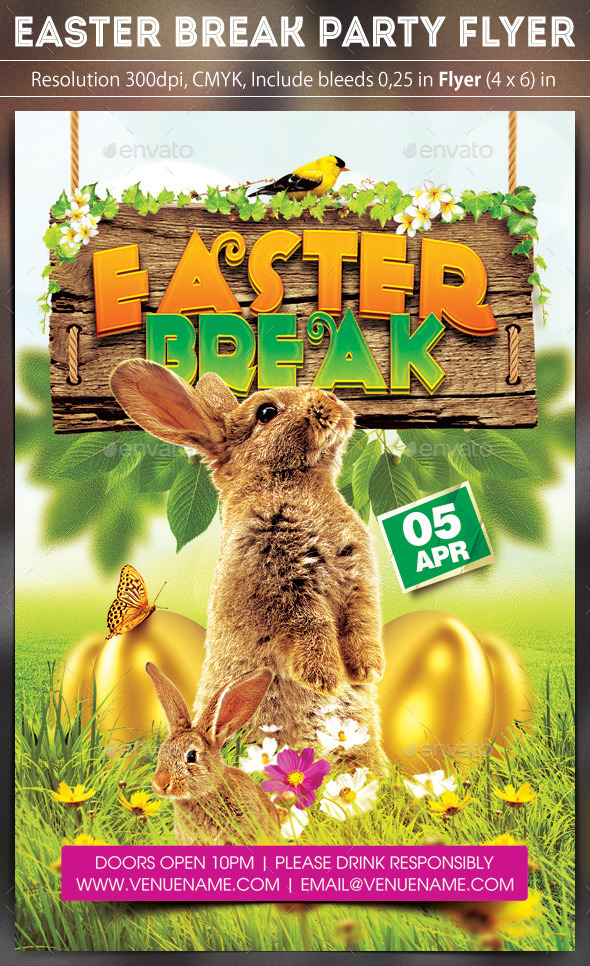 Easter Break Flyer - Clubs & Parties Events