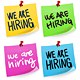 We are Hiring Sticky Note - GraphicRiver Item for Sale