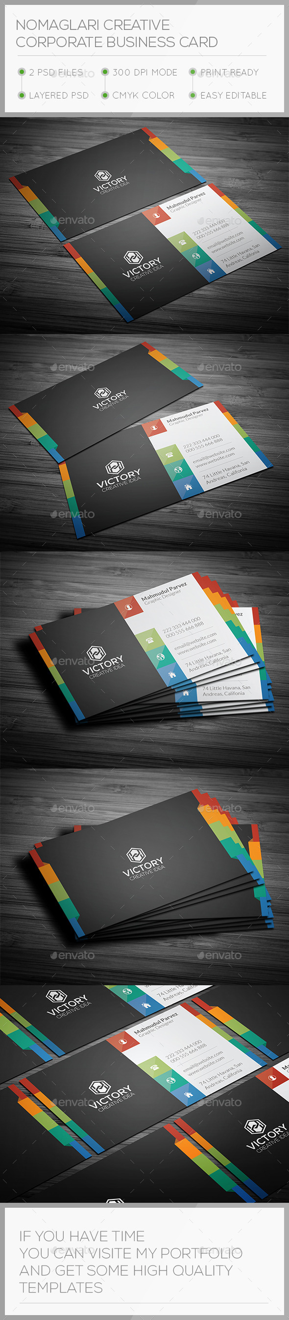 Nomaglari Creative Business Card - Creative Business Cards