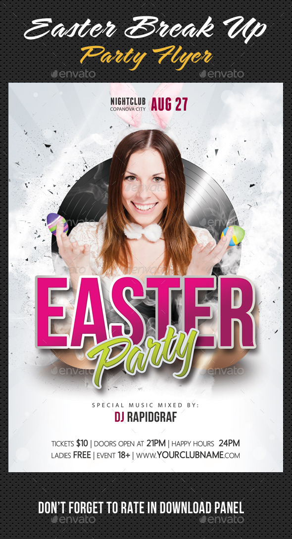 Easter Break Up Party Flyer 04 - Clubs & Parties Events