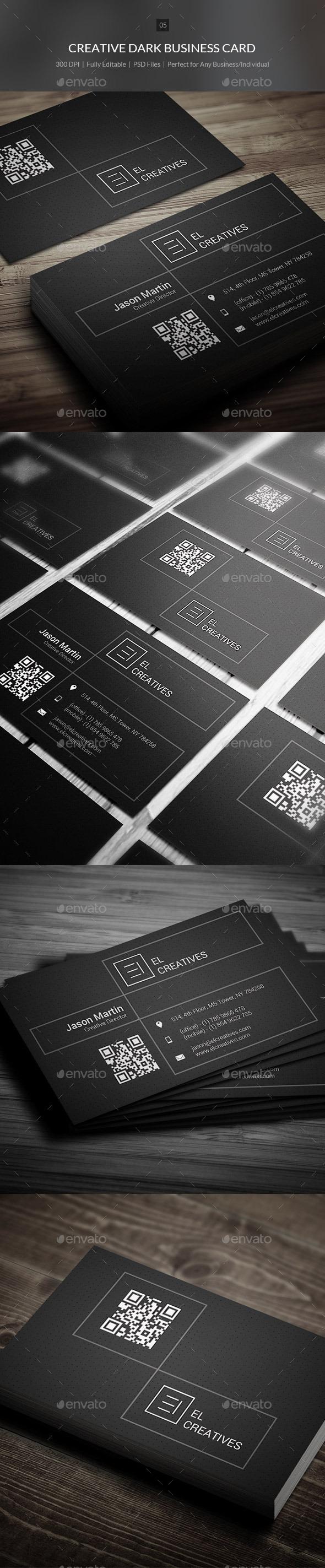 Creative Dark Business Card - 05 - Creative Business Cards
