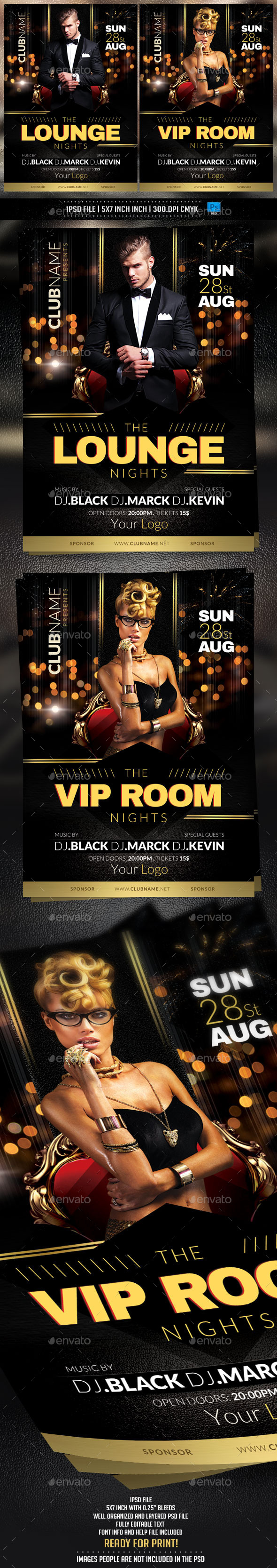 Lounge Nights Flyer Template - Clubs & Parties Events