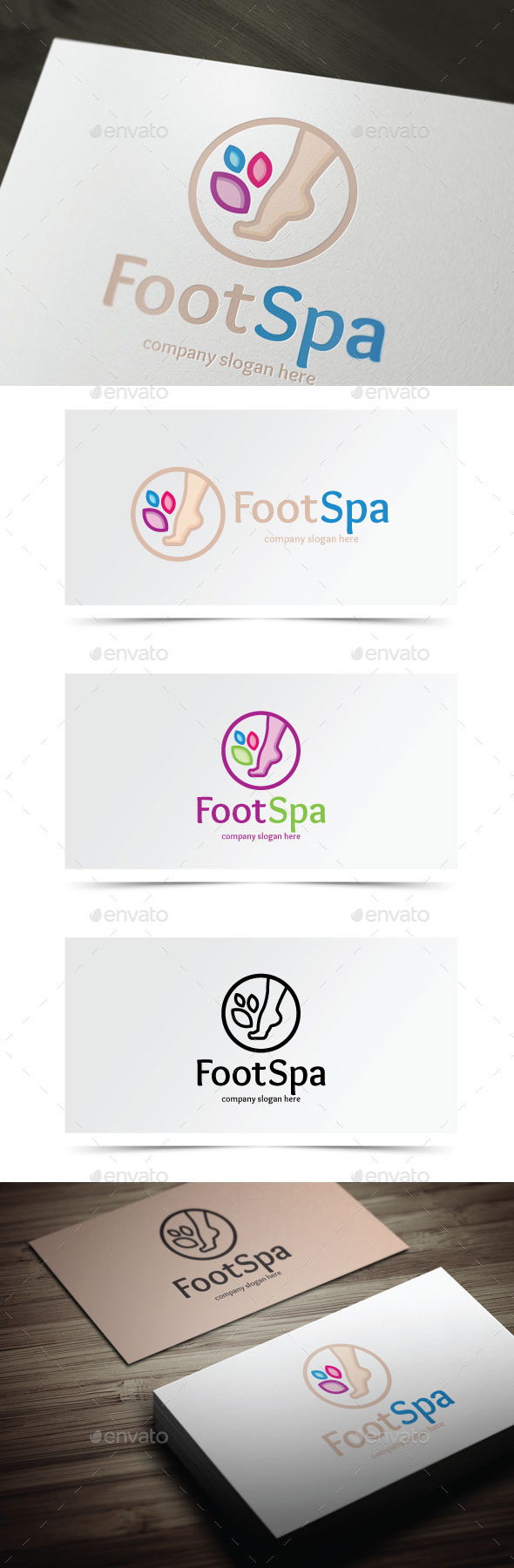 Foot Spa - Objects Logo Templates