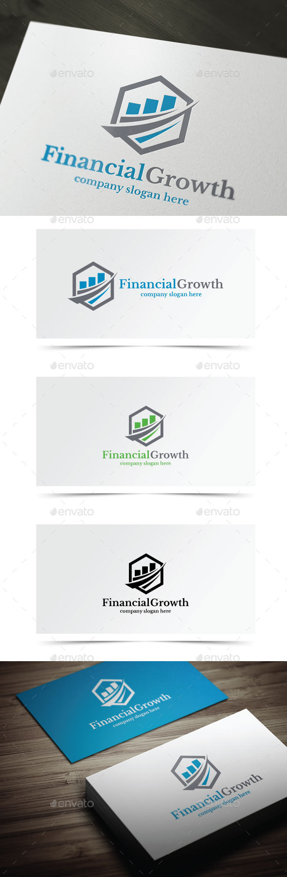 Financial Growth - Symbols Logo Templates