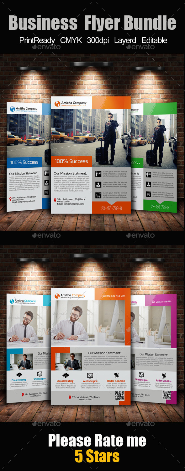 A4 Business Flyer Template Bundle - Flyers Print Templates