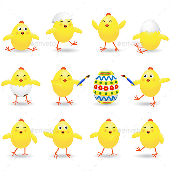 Easter Chicks - Animals Characters