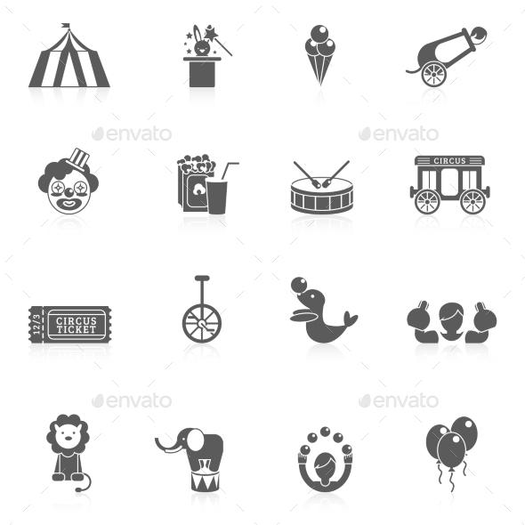 Circus Icon Black - Web Elements Vectors