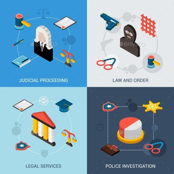 Law Isometric Set - Miscellaneous Conceptual