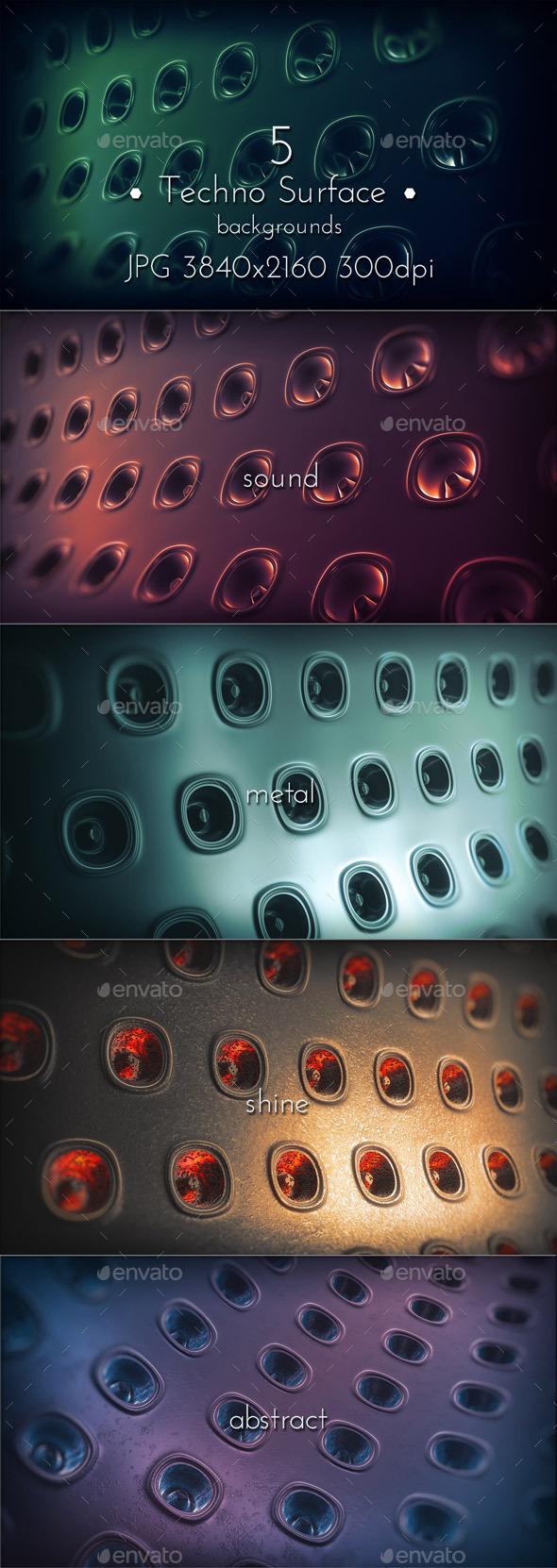 Dark Techno Surface - Tech / Futuristic Backgrounds