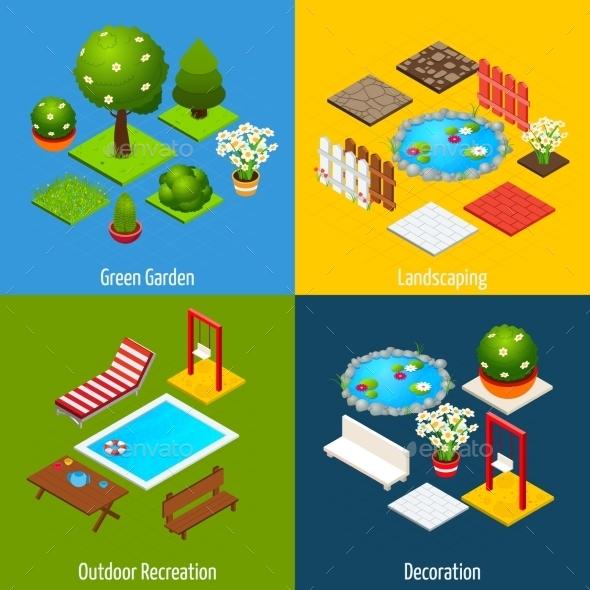Landscape Isometric Design - Miscellaneous Vectors