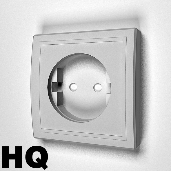 Electric Socket - 3DOcean Item for Sale