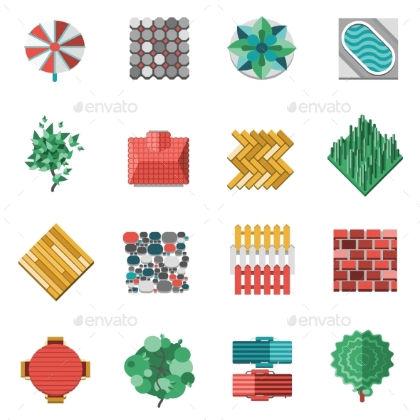 Landscape Design Elements - Decorative Symbols Decorative