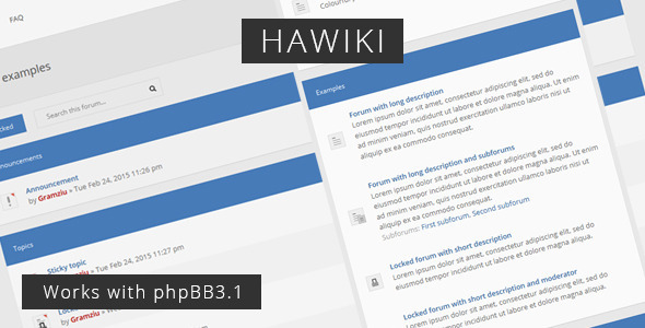 Hawiki – Forum Theme nulled