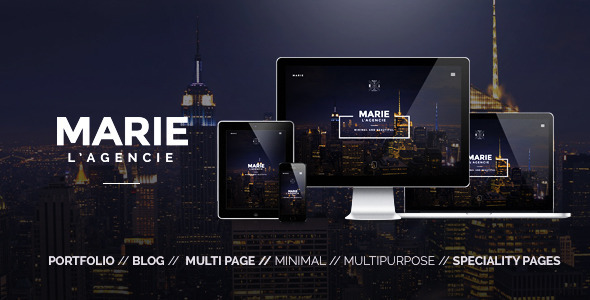Marie – Creative Agency Portfolio Template