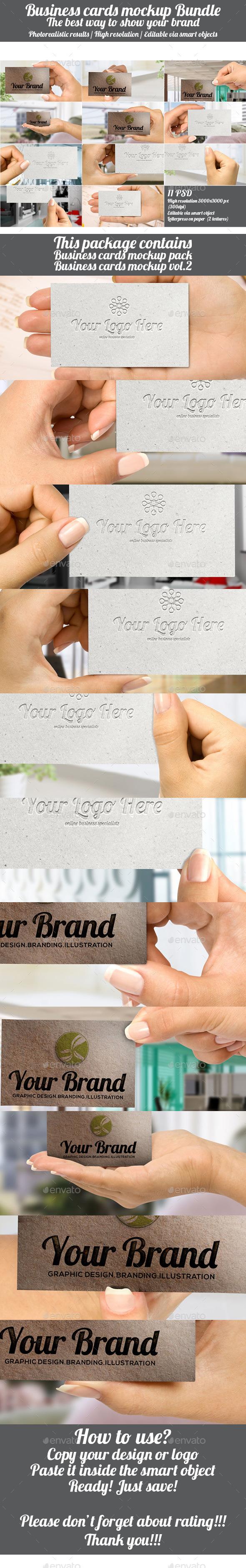 Business Cards Mockup Bundle - Business Cards Print