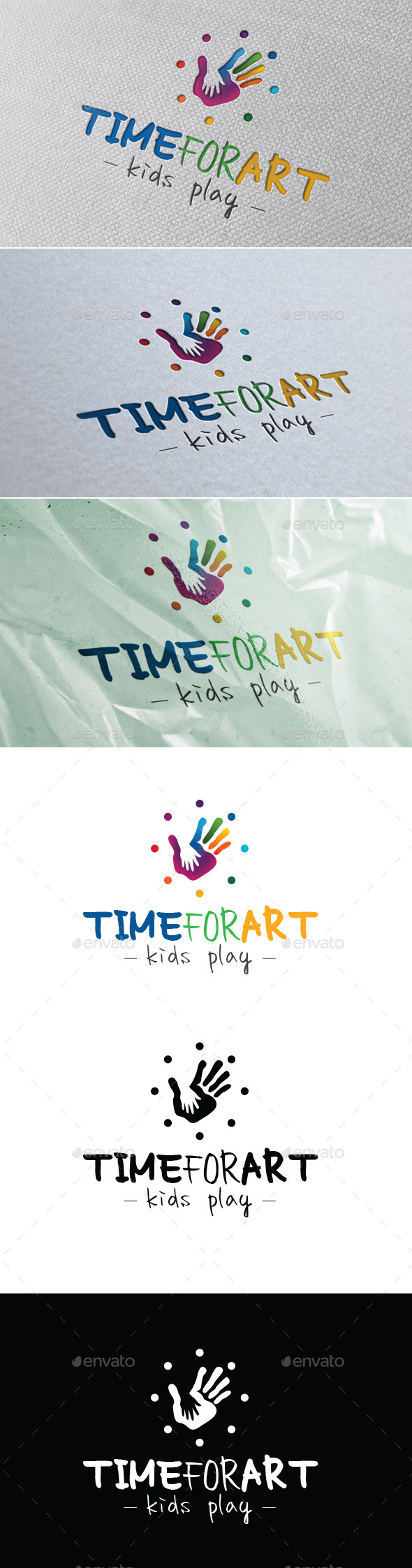 Time For Art - Kids Play - Symbols Logo Templates