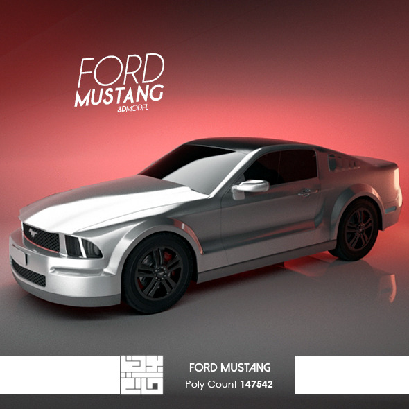 Ford Mustang Tuning - 3DOcean Item for Sale