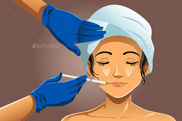 Woman Receiving Beauty Treatment - Health/Medicine Conceptual