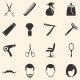 Vector Set of Barber Shop Icons - GraphicRiver Item for Sale
