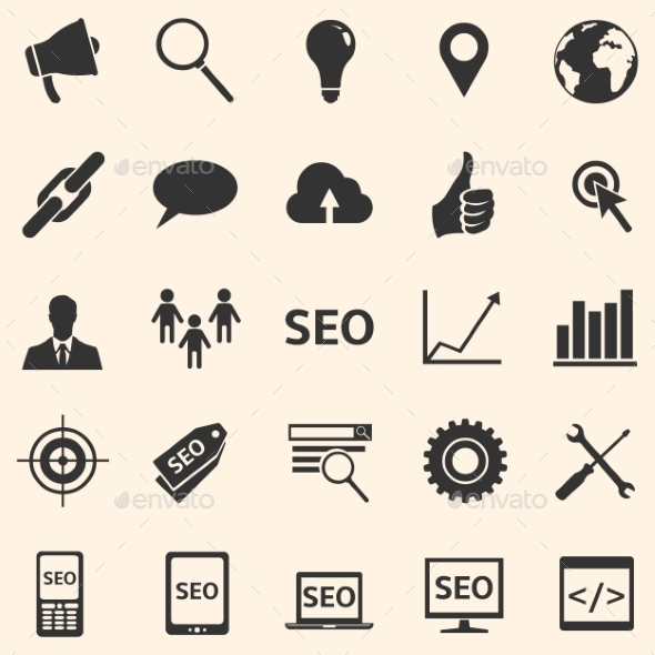 Vector Set of SEO Icons - Business Icons