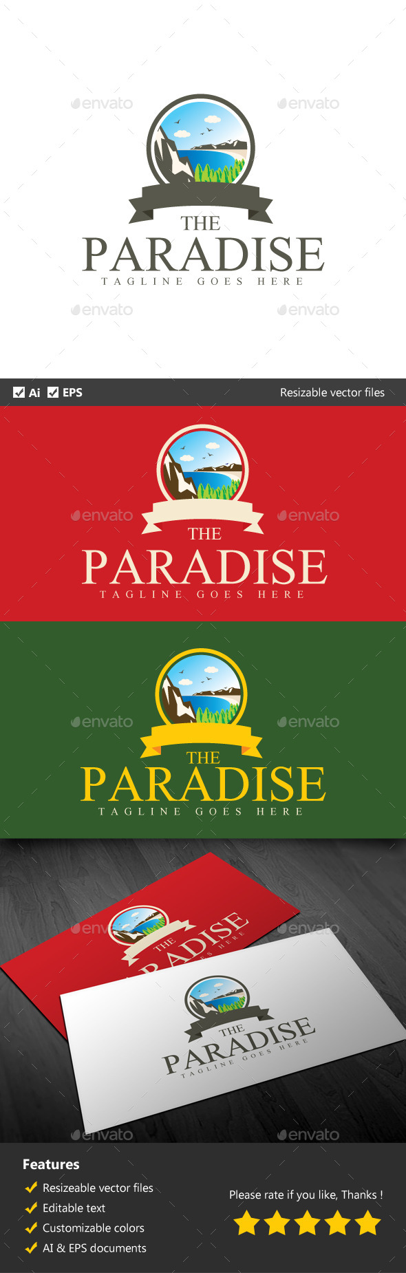 The Paradise - Nature Logo Templates