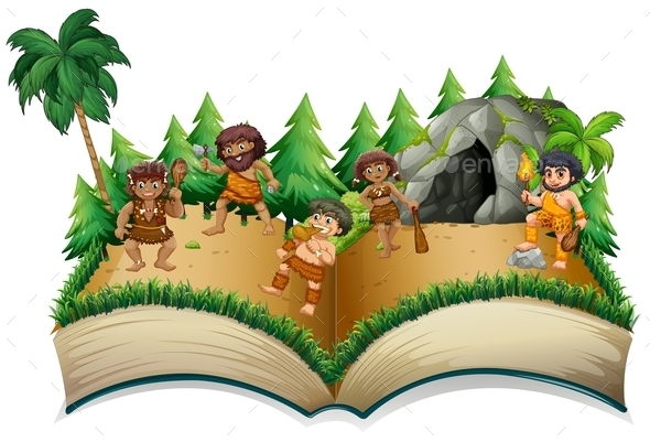 Caveman Book - People Characters
