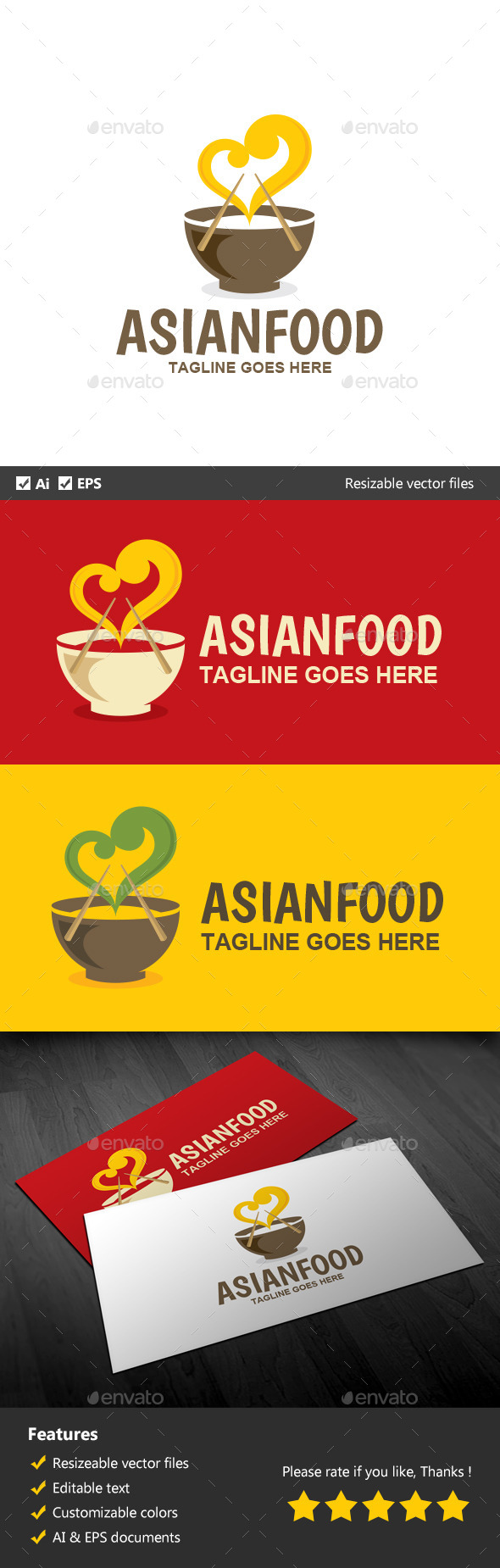 Asian Food - Food Logo Templates