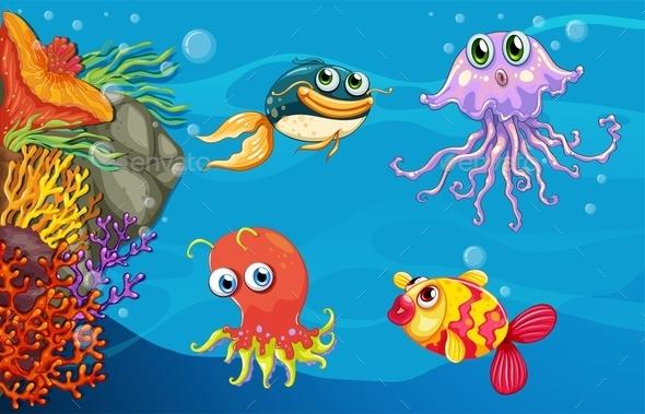 Underwater Creatures - Animals Characters