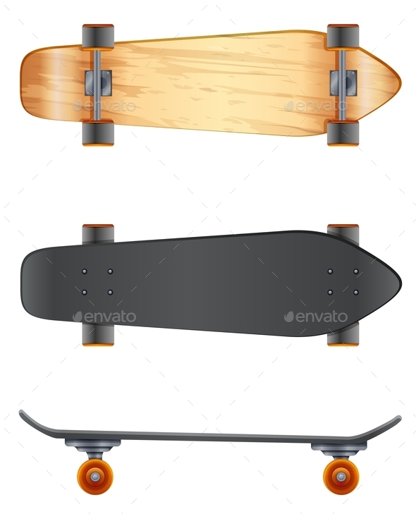 Wooden Skateboards - Man-made Objects Objects
